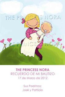 Recordatorios Comunión Princess Nora: RECORDATORIOS BAUTIZO