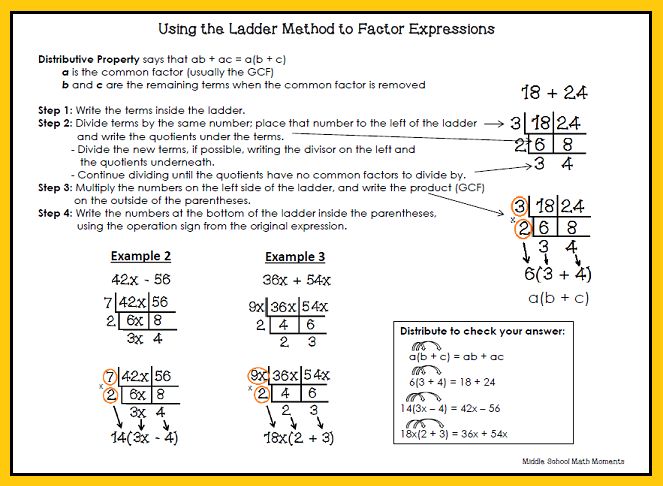 Using the Ladder Method in Math | Multiplication, Division, GCF LCM ...