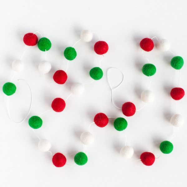 Christmas Felt Ball Garland Products Pinterest Garlands and