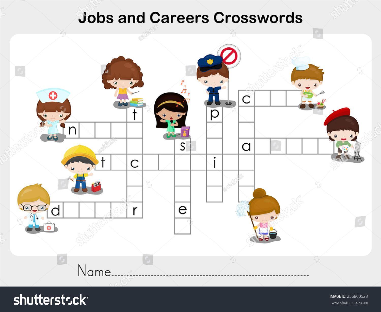 Workbooks worksheets jobs : Jobs and Careers Crosswords - Worksheet for education   Worksheets ...