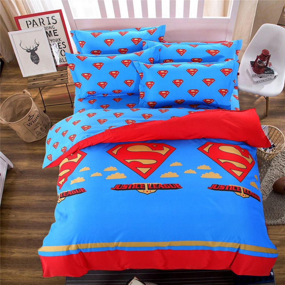Justice League Bedsheets Bedspreads Cartoon Comforter Bed Bedding