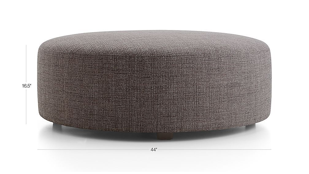 Syd 44 Round Cocktail Ottoman Reviews Crate And Barrel