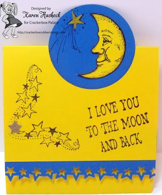 Karen's Kreative Kards: Love You to the Moon and Back Tri-Fold Card on CBP Friday