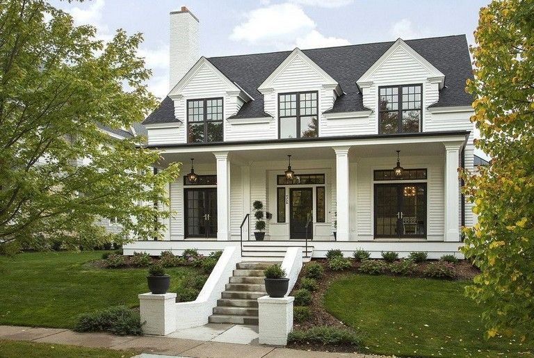35 Awesome Traditional Cape Cod House Exterior Ideas Page 15 Of 38 In 2020 Colonial House Exteriors Cape Cod House Exterior Colonial Exterior
