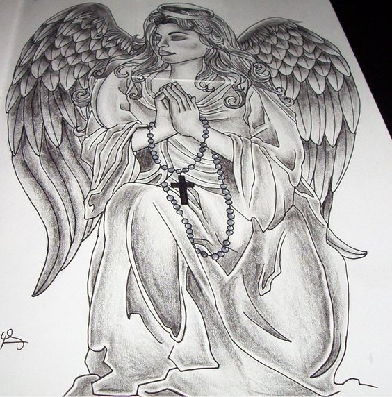 Wonderful Praying Angel Tattoo Angel Tattoo Designs Cool Chest