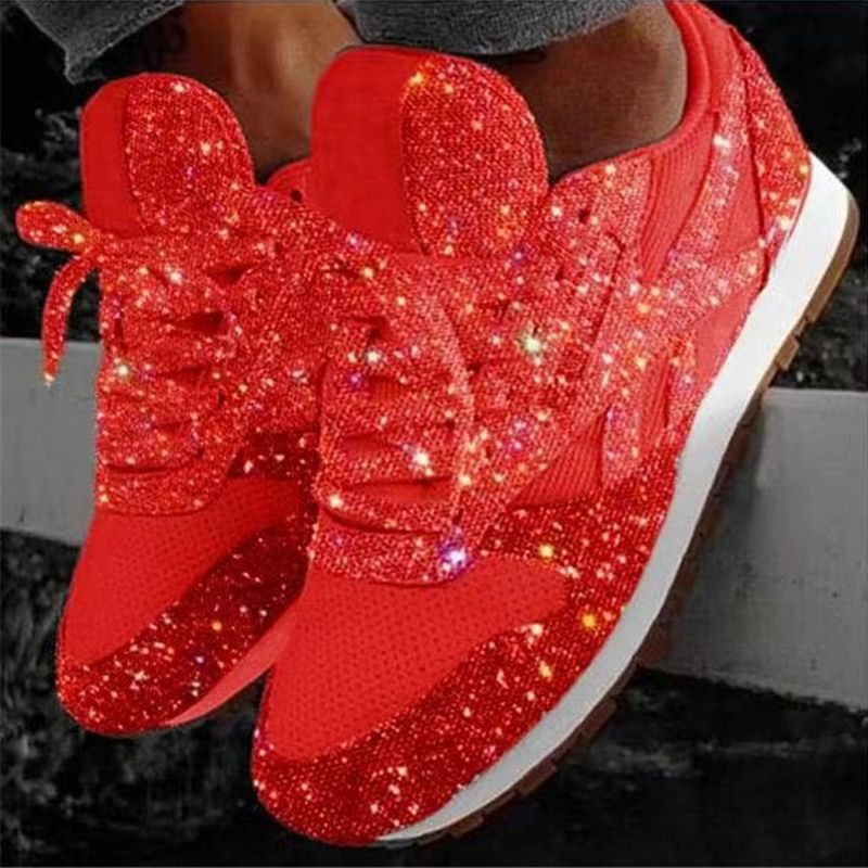 Sparkly shoes, Glitter sneakers, Casual