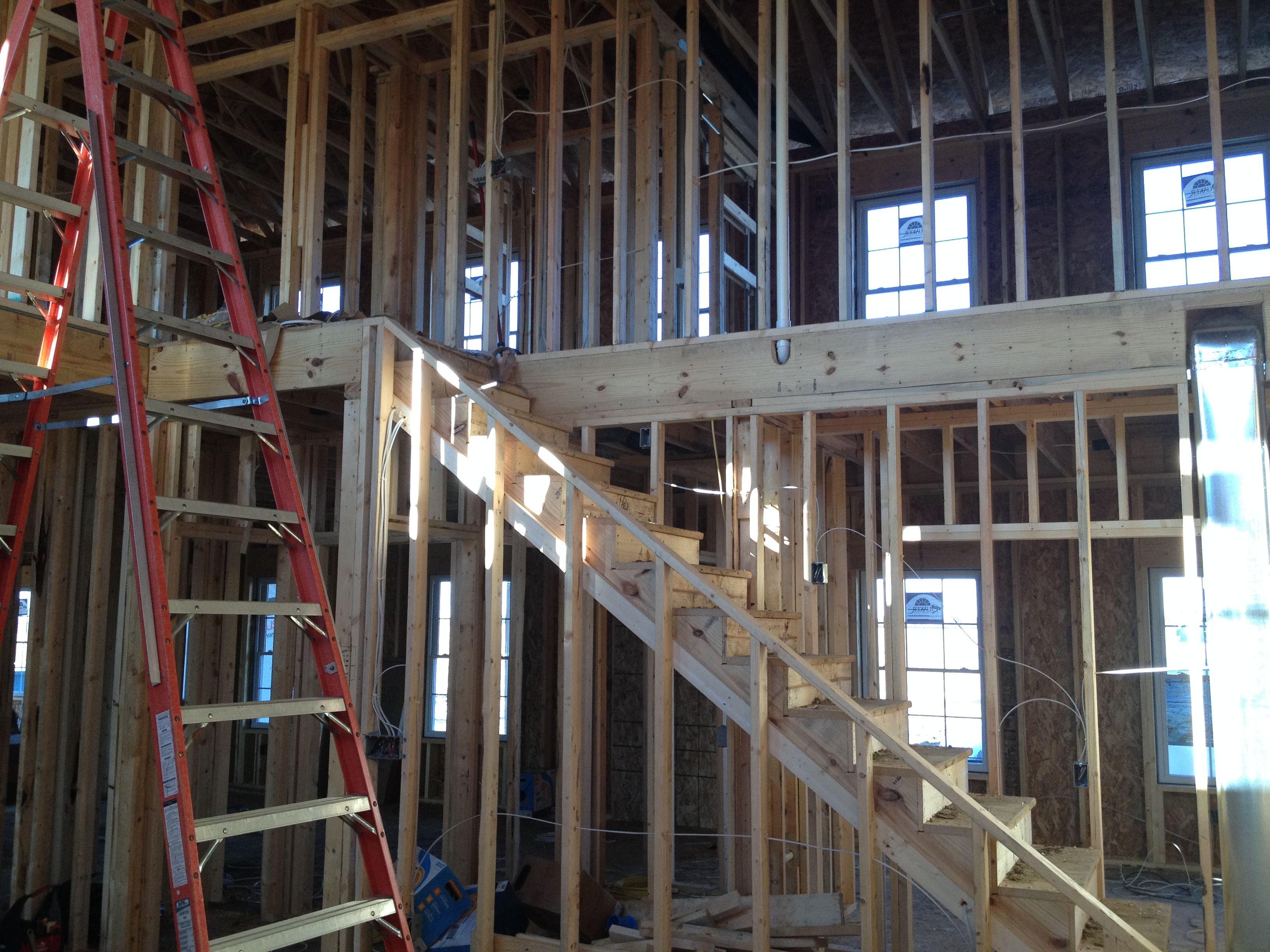 Interior framing by Miller Construction.
