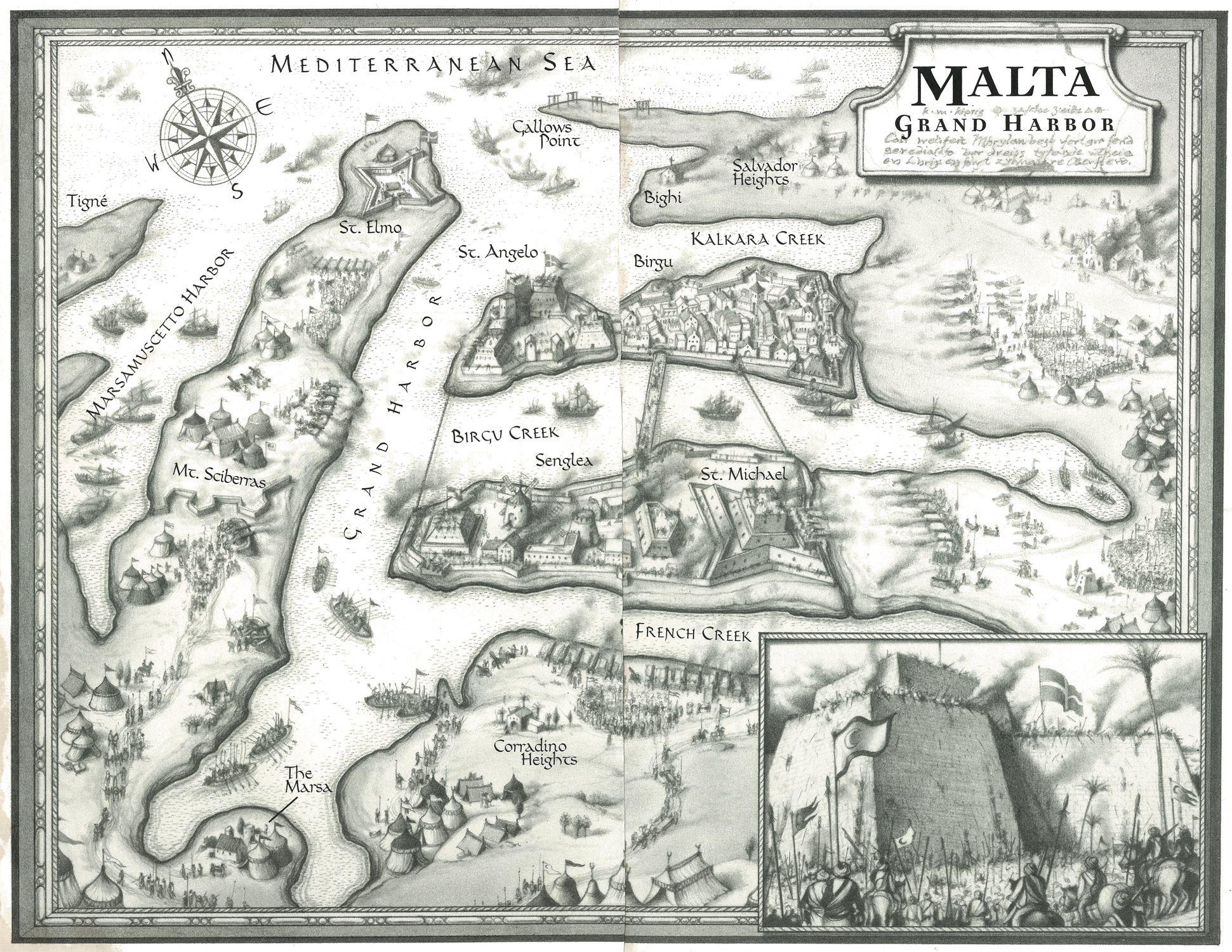 Malta Map Illustration by Michael Gellatly A hand drawn map