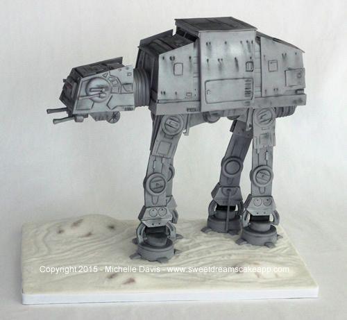 In A Galaxy Far, Far Away… A Star Wars AT-AT Cake Was Born | Nerd ...
