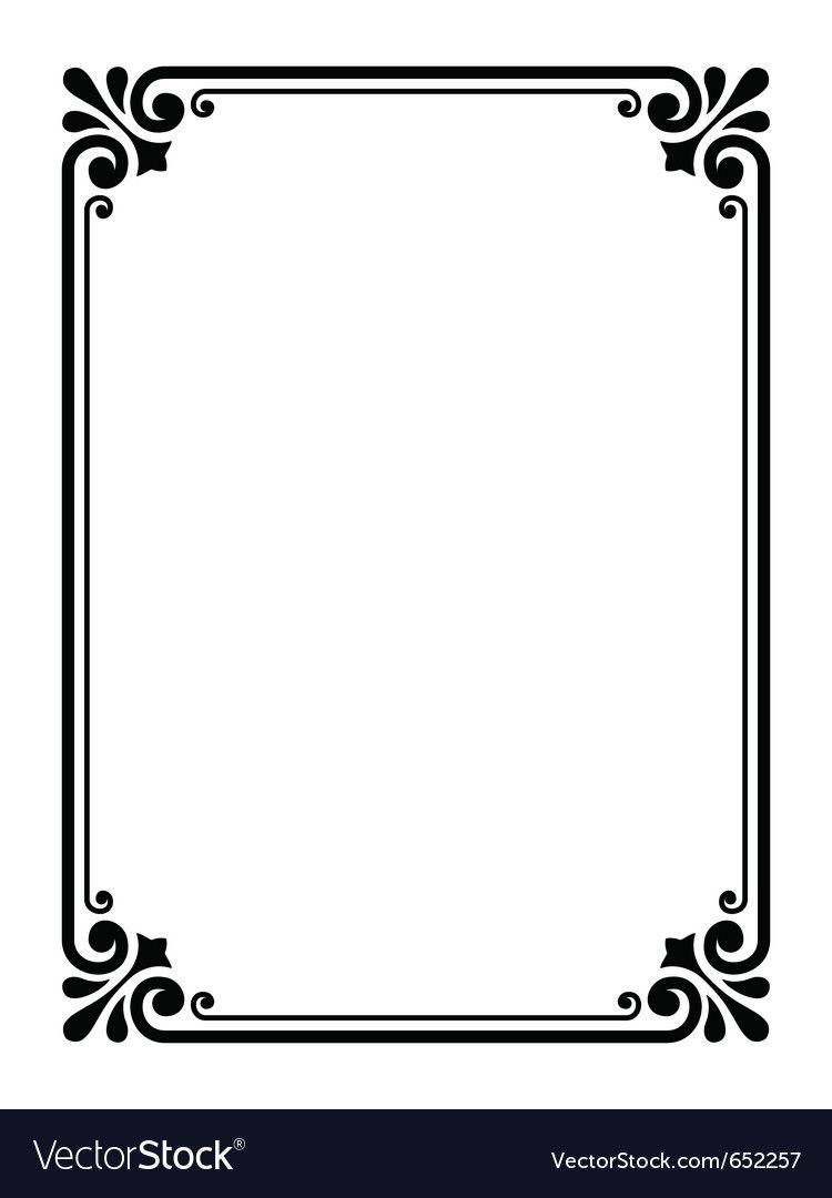 Simple Ornamental Decorative Frame Vector Image On Vectorstock Page Borders Design Frame Border Design Border Design