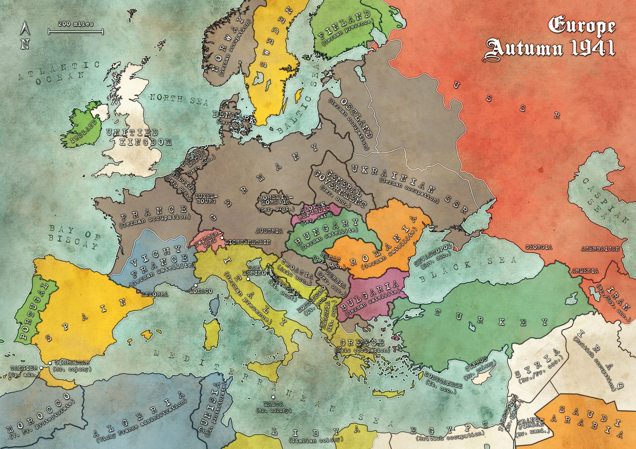 Modiphius Entertainments Maps Of 1941 Europe