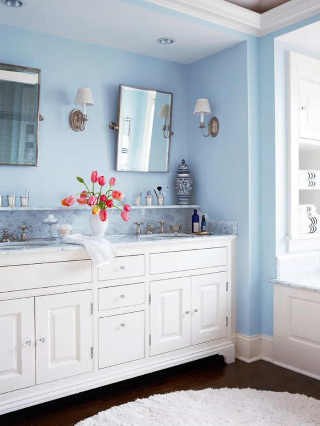 Decorating Ideas For A Blue Bathroom Bagno Blu Bagno Blu