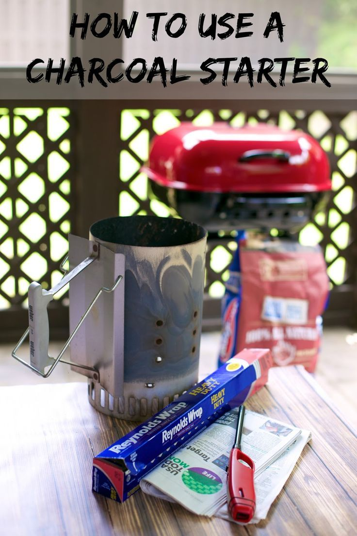 Grilling 101 how to use a charcoal starter light