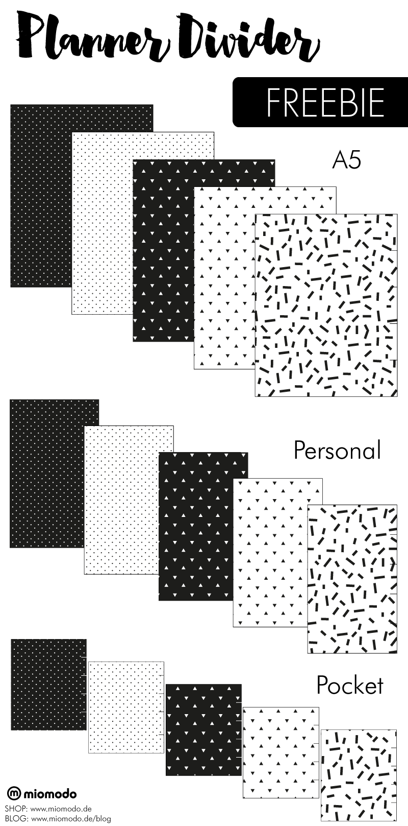 planner divider freebie zum kostenlosen download. Black Bedroom Furniture Sets. Home Design Ideas