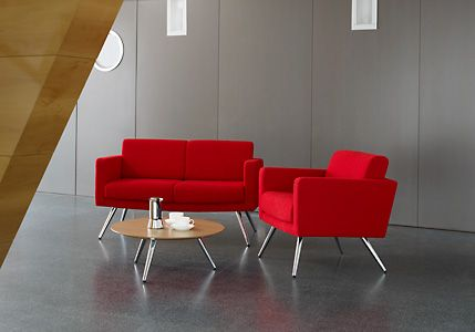 FIFT01 Fifty Fully Upholstered Armchair With Swaged Tubular Steel Legs