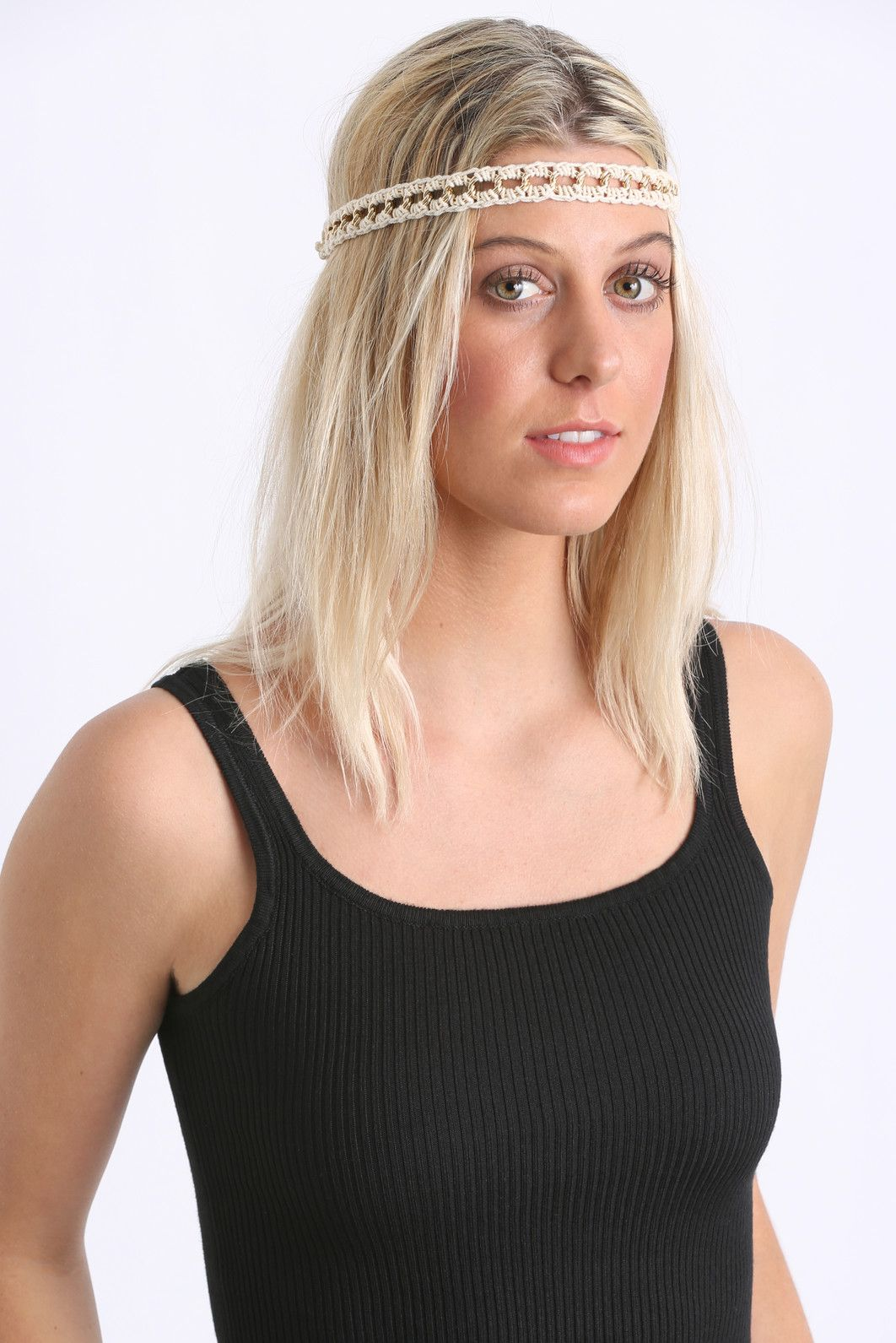 Open Braid & Tan Leather Headwraps | South Moon Under