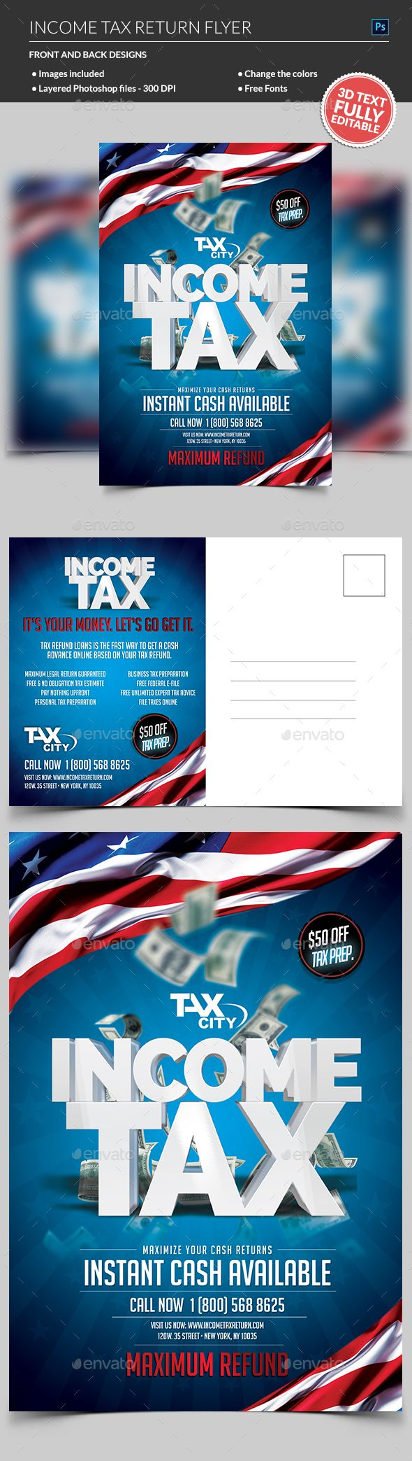 Income Tax Flyer Template Psd Flyer Templates Income Tax