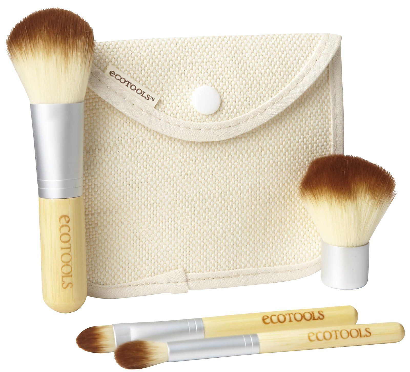 Eco Friendly Makeup Brush Set and Pouch 8.99