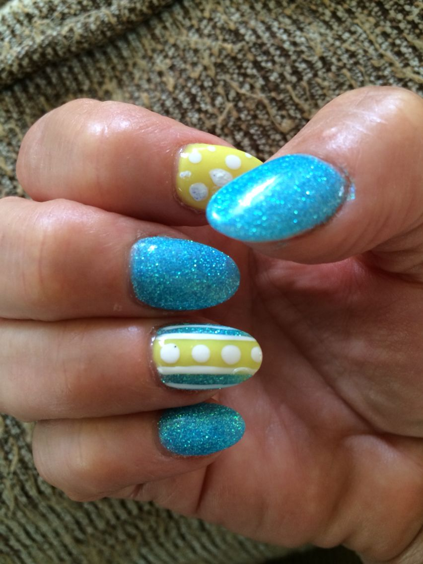 Almond shaped nails with #ANC by Patricia at #lightenupsalon in Budd ...