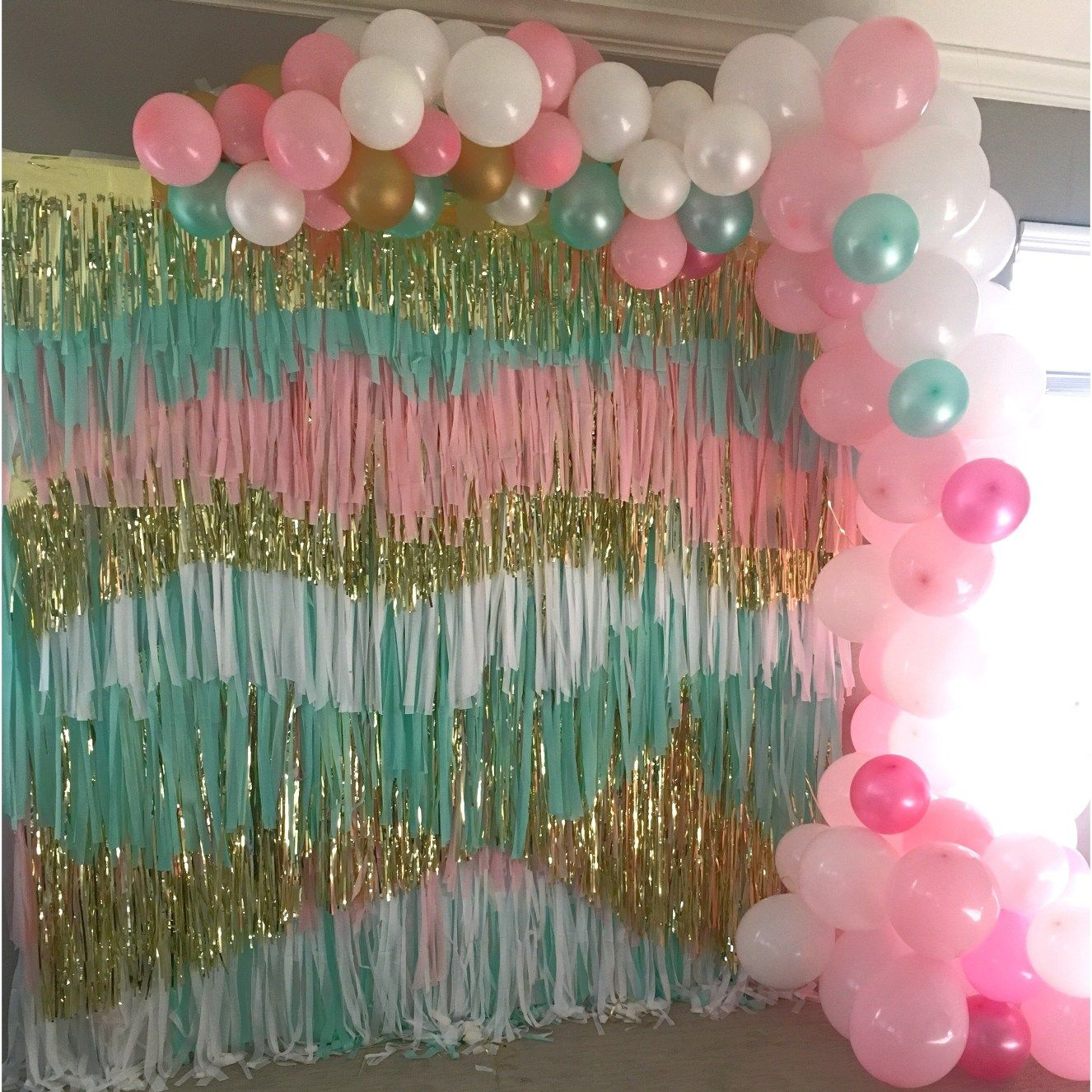 Confetti Streamer Backdrop Balloon Garland - Creativity Made Easy