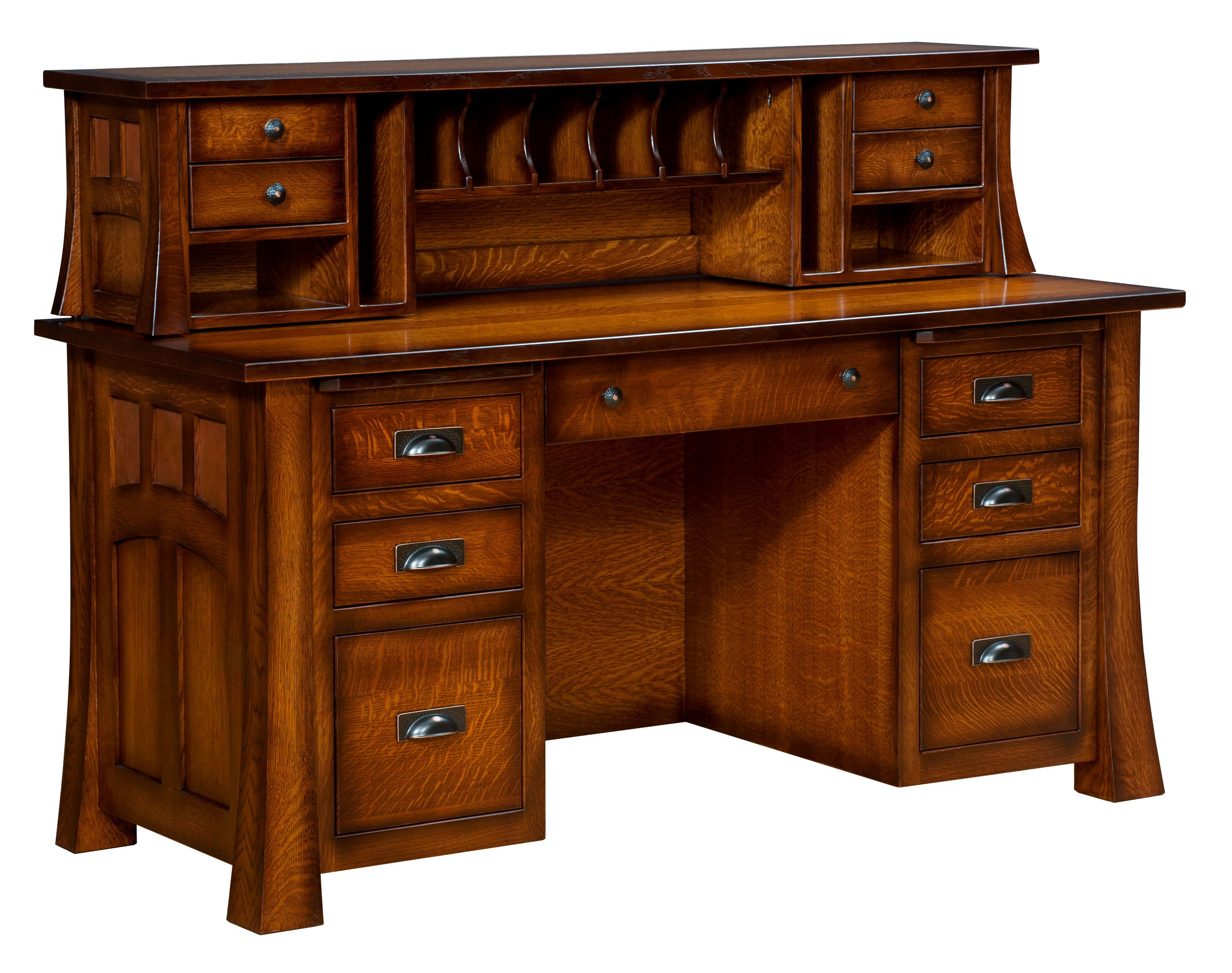 Bridgefort File Desk Amish Made Furniture Shipshewana Indiana Office Custom