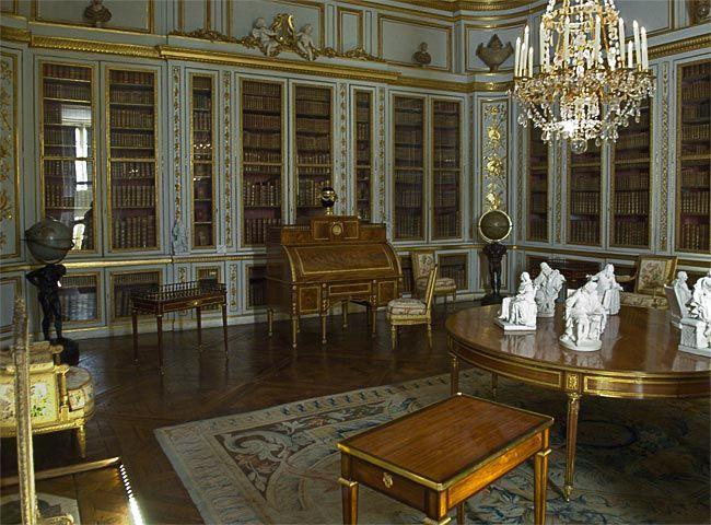 Versailles, interieur la bibliotheque Images anciennes (enfants