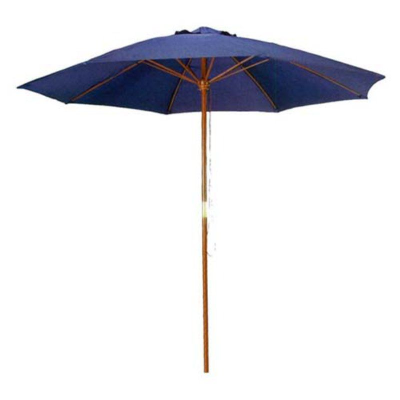 Home and Garden HGC 9 ft. Wooden Outdoor Market Patio Umbrella Navy Blue - UB58022