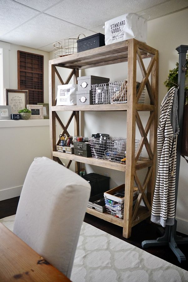 Craft room bookshelf - The best storage bookshelf!