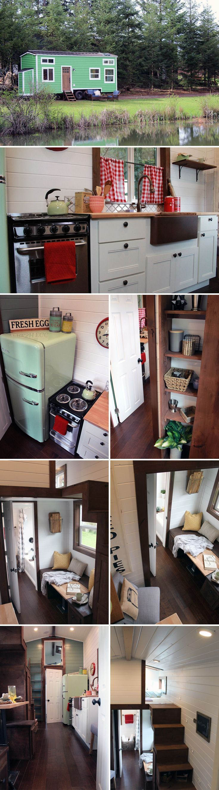 Loft bedroom privacy ideas  This  sqft retrostyle tiny house features three separate