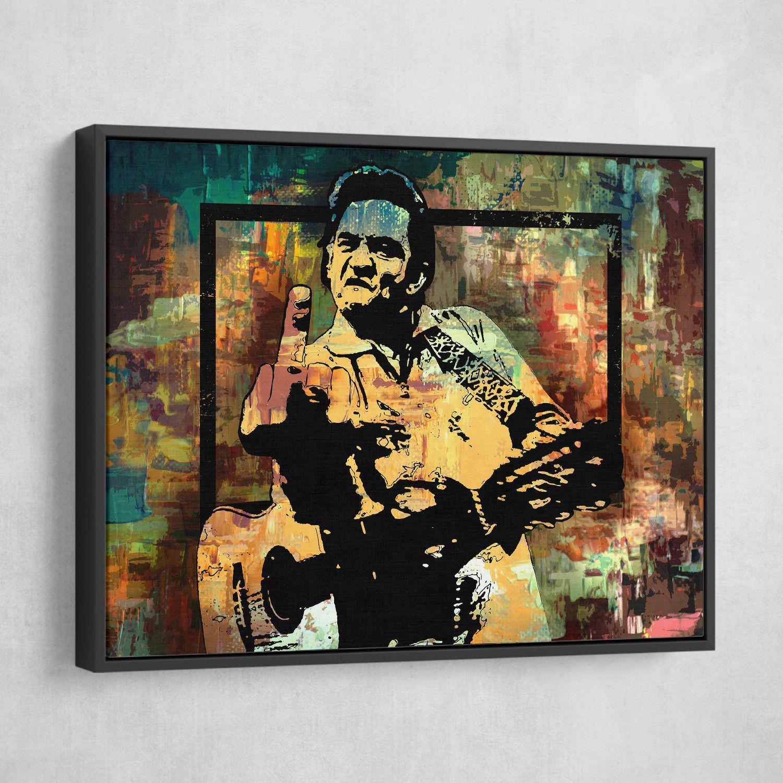 Johnny Cash Middle Finger Johnny Cash Middle Finger Canvas Prints Pop Art