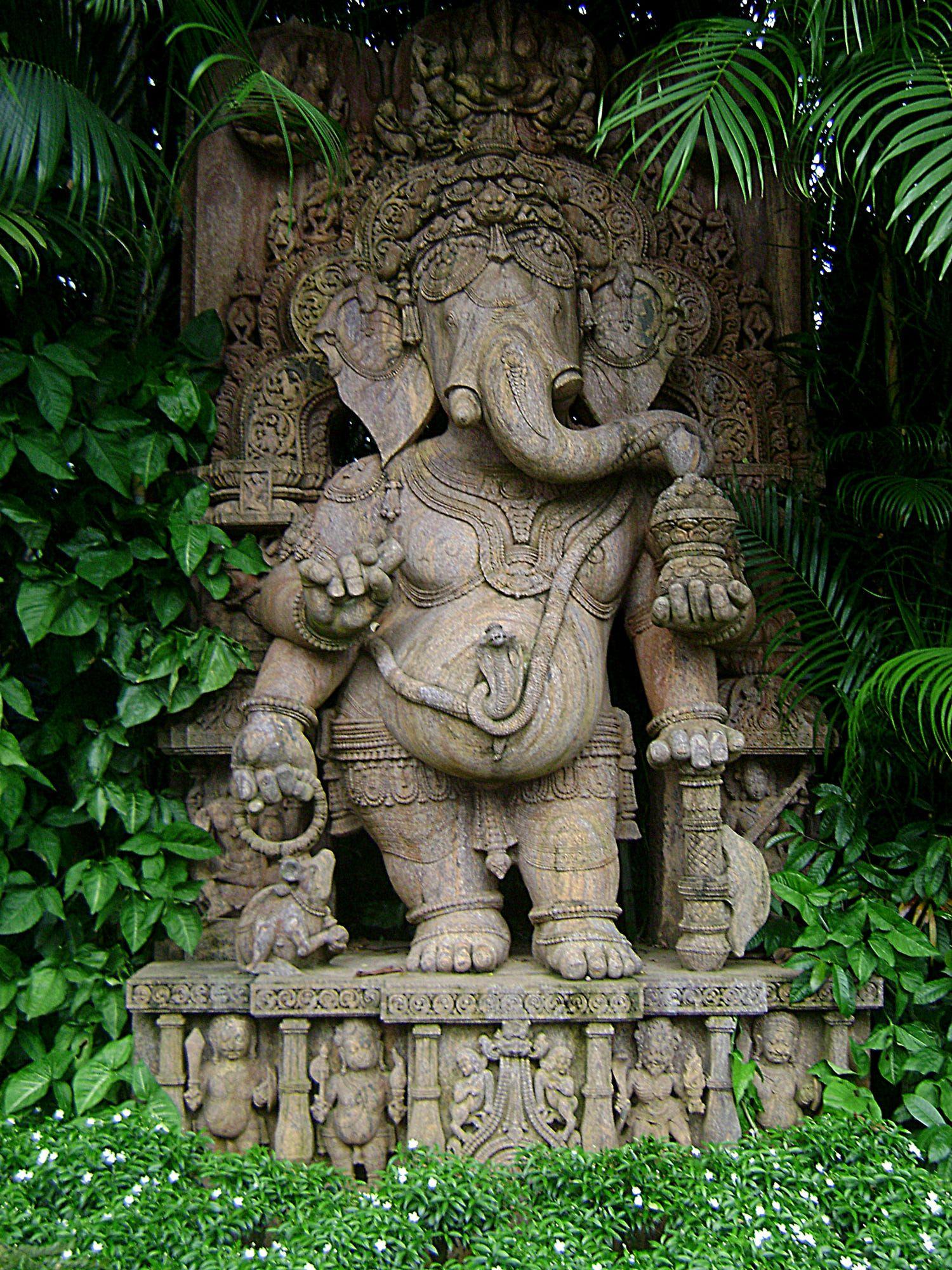 Stone sculpture of hindu deity ganesha orissa india saibaba