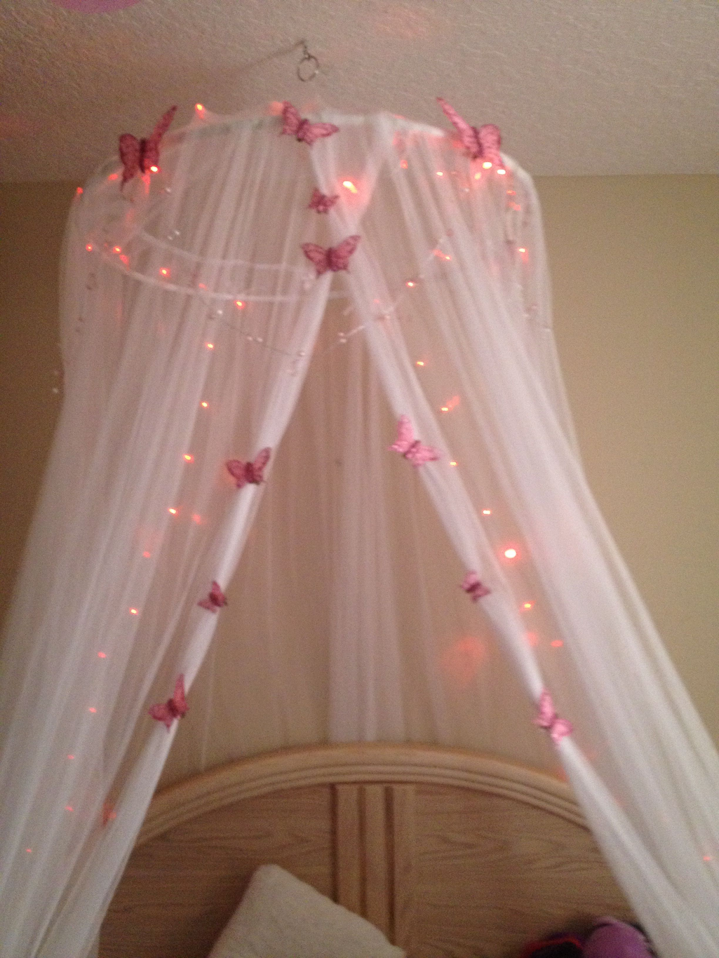 Butterfly Bed Canopy I Made Girls Bedroom Canopy