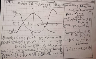 تصحيح تمرين 2 و3 من فرض محروس حول المنطق والدوال 2015 2016 Math Sheet Music Math Equations