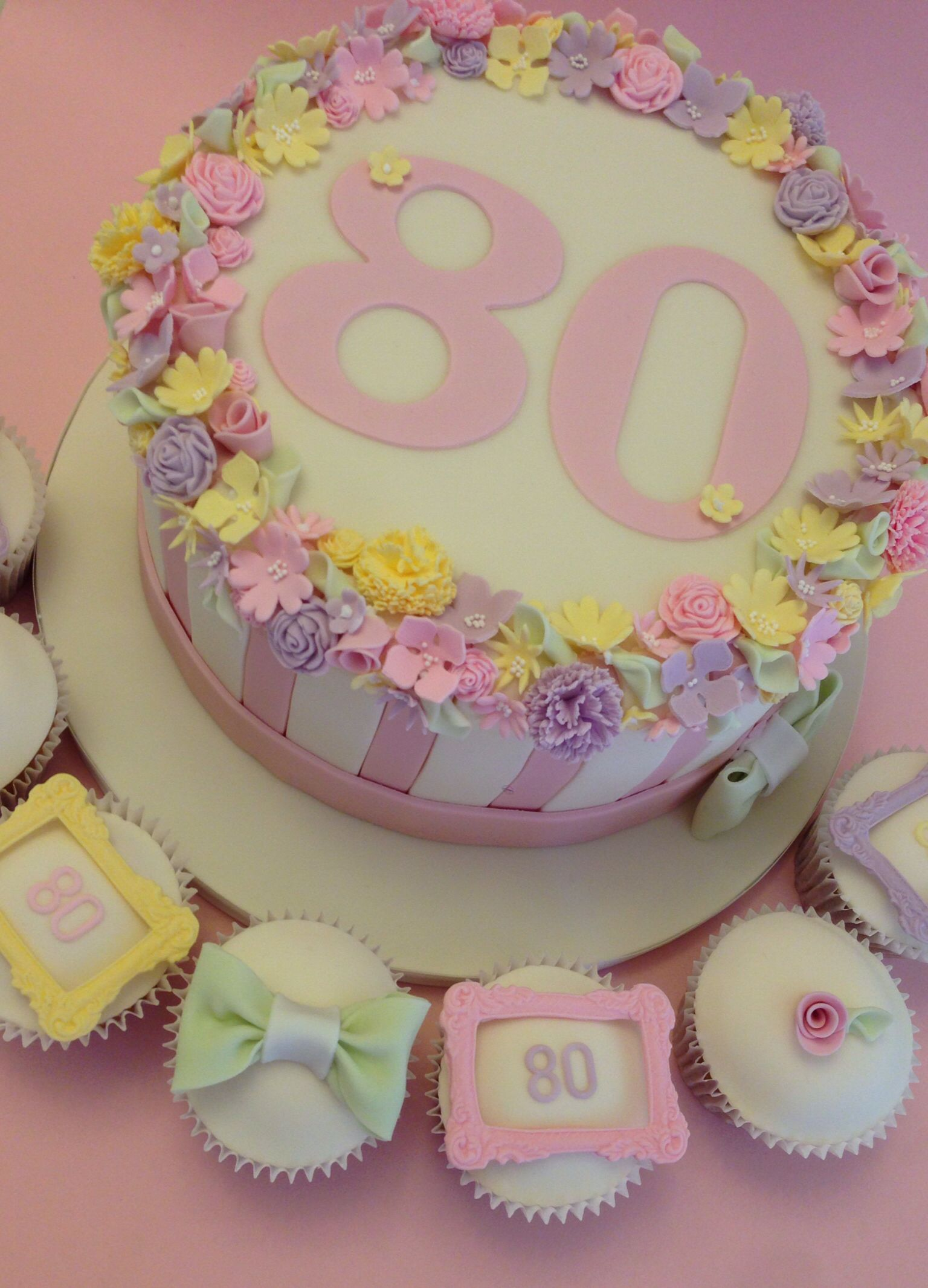 Pretty 80th Birthday Cake Collection Vintagehousebakerycouk