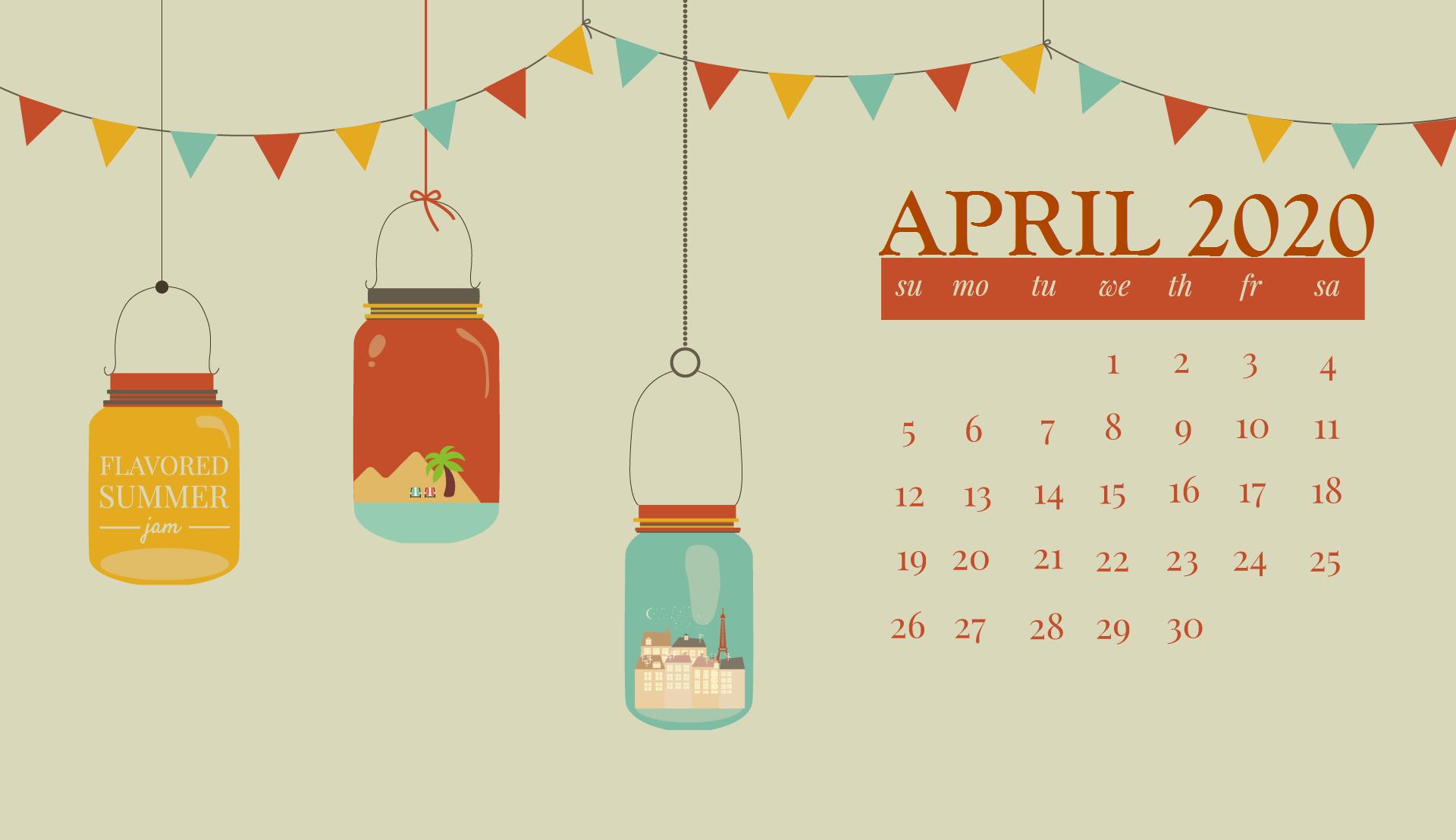 April 2020 Desktop Calendar Wallpaper In 2020 Calendar Wallpaper Desktop Wallpaper Calendar Desktop Calendar