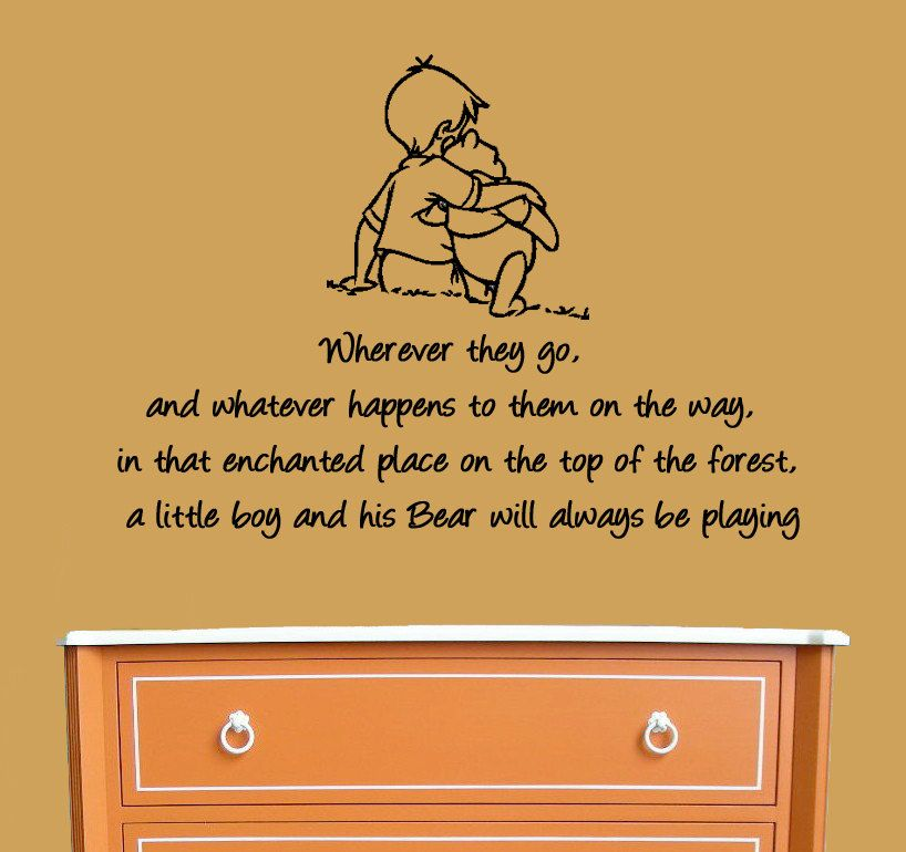 Winnie the Pooh Wall Decal A Boy and his Bear by MommyofTyDesigns, $32.00
