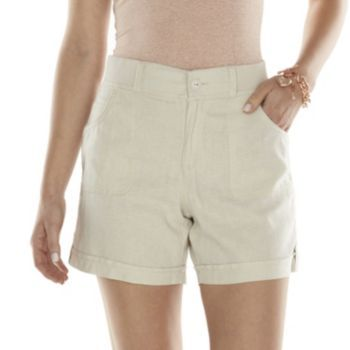 Gloria+Vanderbilt+Sydney+Linen-Blend+Shorts+-+Women's