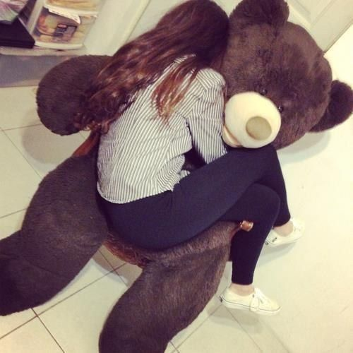 I want a cute big ass teddy bear for valentines day *Sighs* .....one day