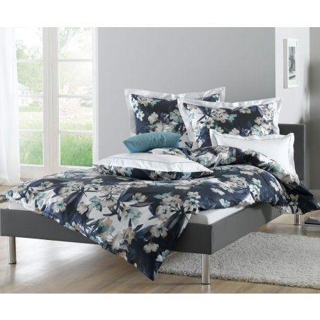 lorena blumen bettw sche katharina mit stehsaum mako satin bettw sche mit stil ihr shop f r. Black Bedroom Furniture Sets. Home Design Ideas