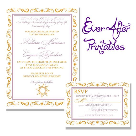Most Expensive Wedding Invitations: Tangled Ever After Rapunzel Inspired Wedding Invitation