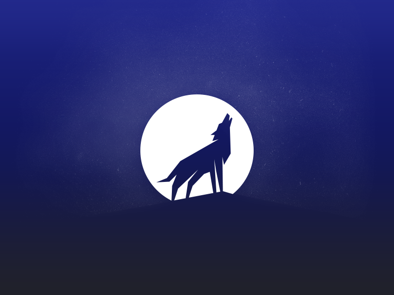 Wolf and the moon icon Moon icon, Animal logo, Branding