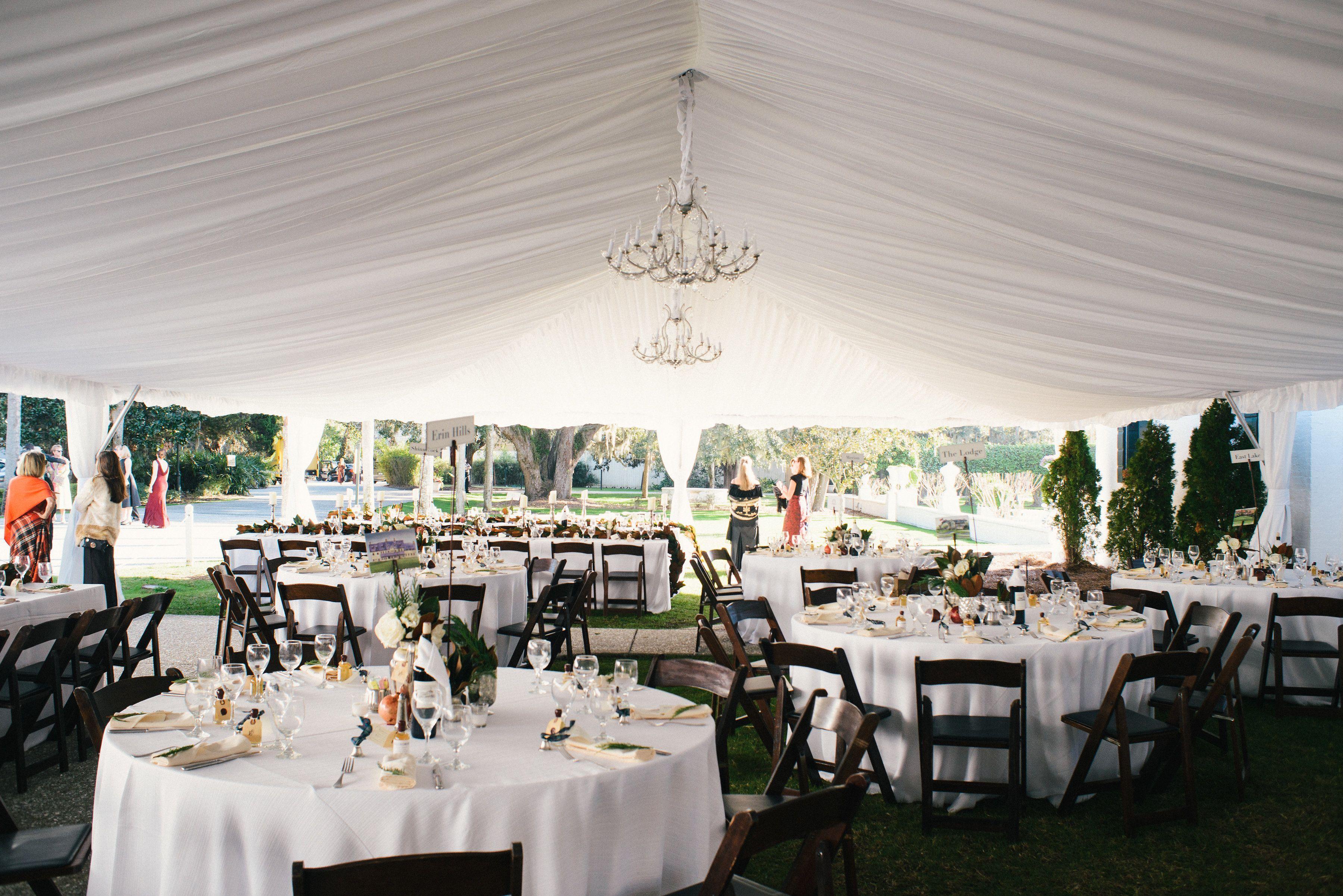 Crane Cottage Tent Reception Georgia Wedding Tent Reception Dream Destination Wedding