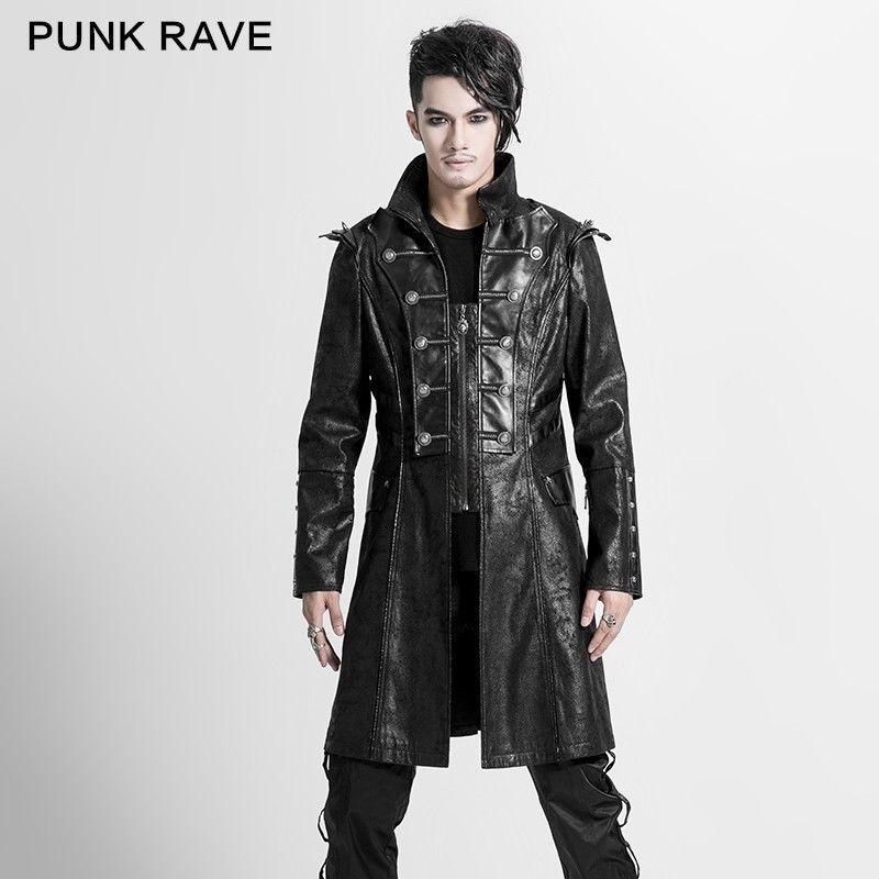d254c9419220 Punk Gotico Rave Giacca Mantella uomo cappotto nero Uomo dark Y-366 ...