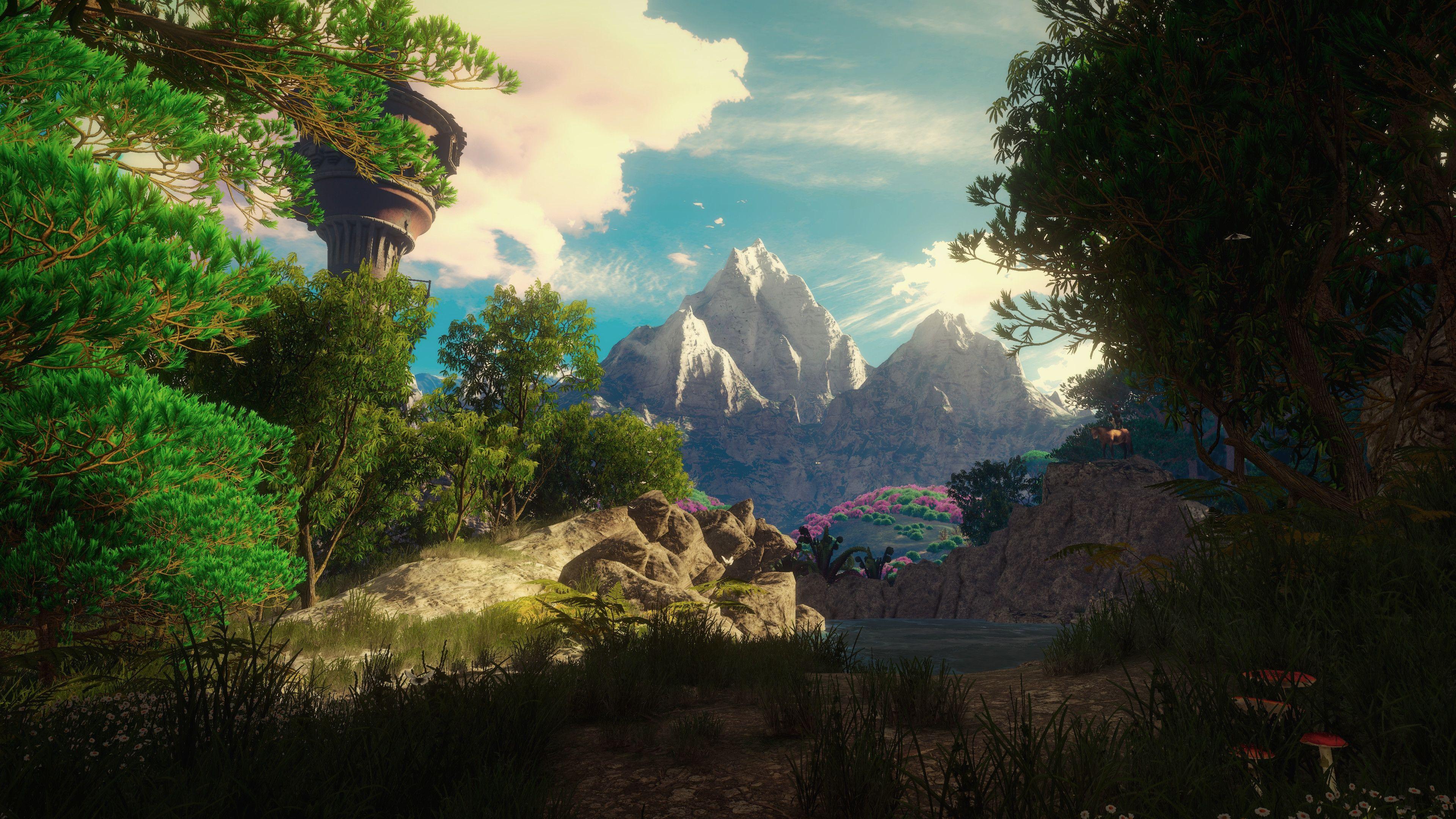 Rapunzel Hung Herself Witcher 3 4k Landscape Wallpaper Cartoon Wallpaper Hd Cartoon Wallpaper