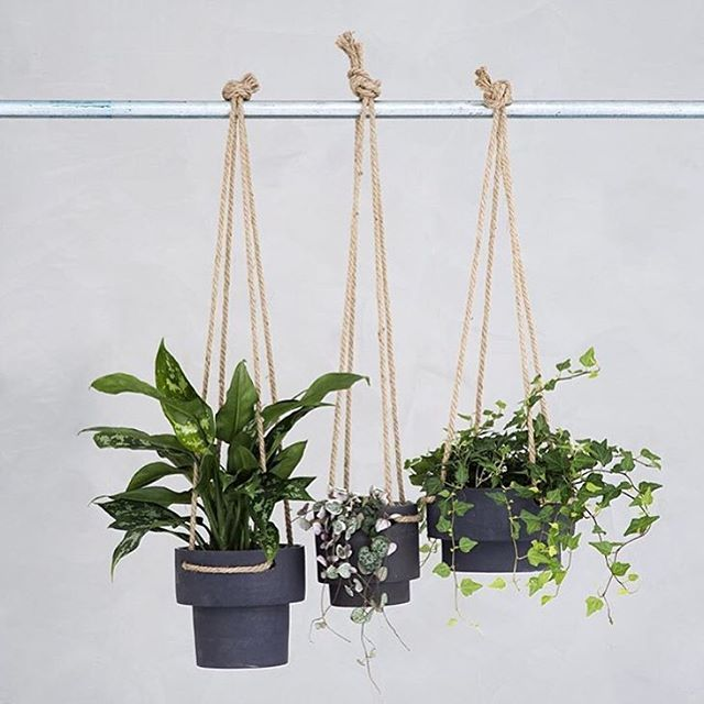 Hanging planters from #FermLiving - available now at #HUHStore in 3 sizes