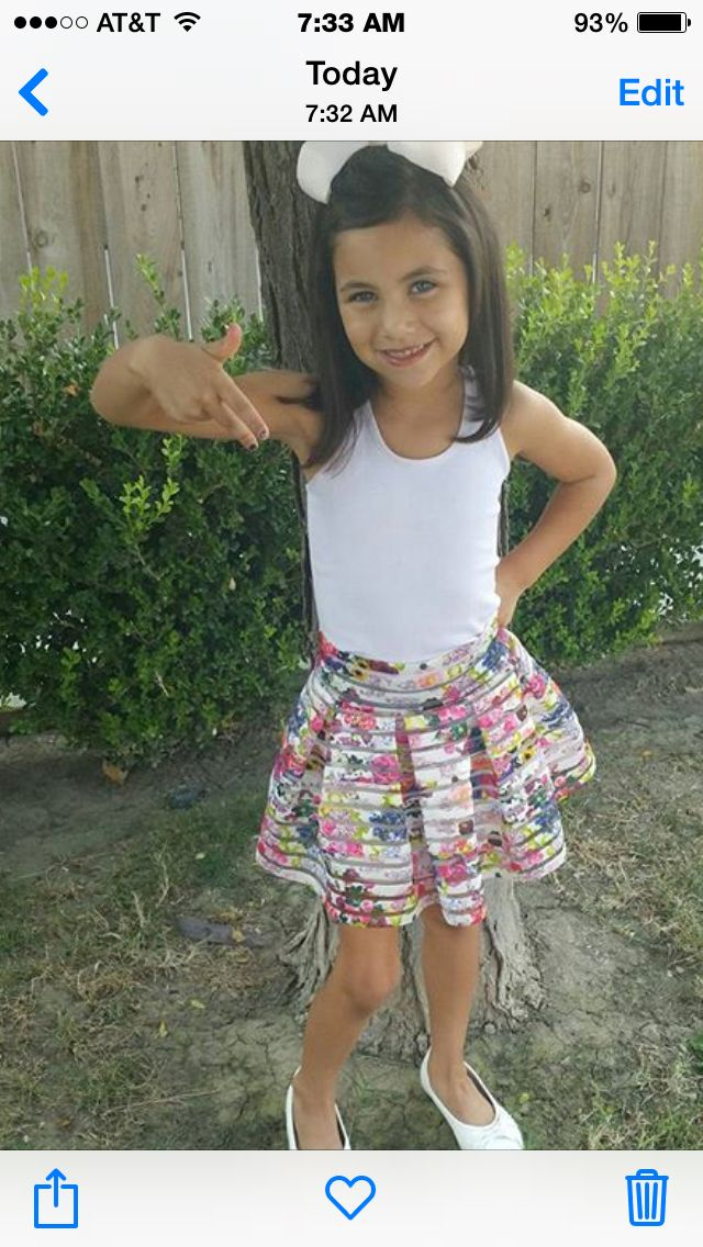 Little girls fashion for school
