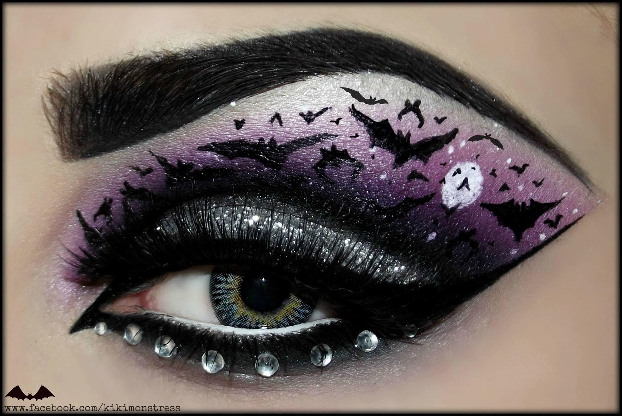 halloween inspired makeup & nail art - girly design blog   woah