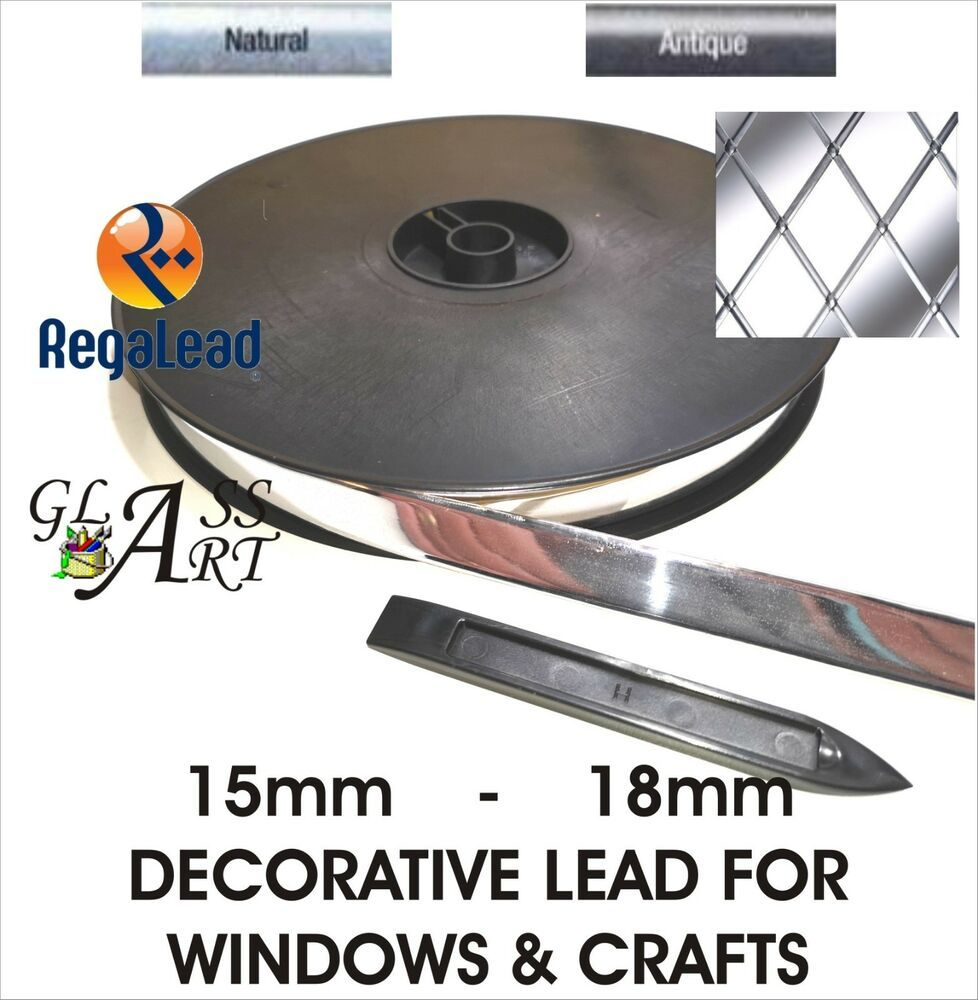 4.5mm Brass Self adhesive lead strip tape for glass Windows crafts REGALEAD tool