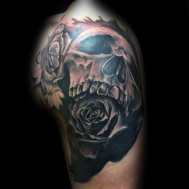 Top 73 Black Rose Tattoo Ideas 2020 Inspiration Guide Rose Tattoos For Men Tattoo Designs Men Rose Tattoo Design