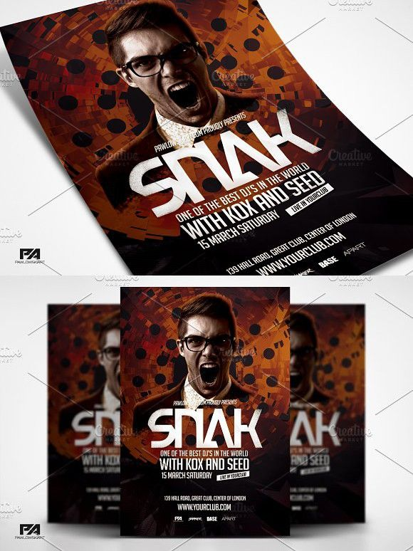 Dj Album Promo Flyer Template Flyer Template Template And Edit Text